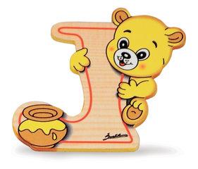 Alfabet letters hout klein