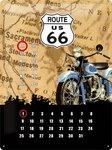NA20360 Kalender metaal route 66 | Nostalgic Art