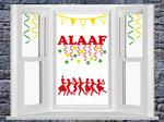 Raamsticker set Carnaval Alaaf, Confetti en hossende mensen | Rosami