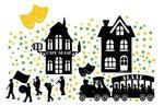 161 delige stickerset raam Carnaval huisjes & optocht herbruikbaar | Rosami