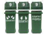 Voordeelset 6 x kliko / container sticker straatnaam & huisnr | Rosami