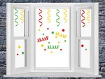 Raamstickerset Carnaval herbruikbaar serpentine + confetti & Alaaf | Rosami Decoratiestickers