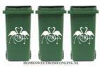 Voordeelset container sticker flamingo met huisnummer | Kliko | Rosami 1