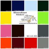 Kleurenkaart sticker vinyl kliko   Home Sweet Home