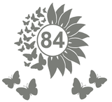 Voordeelset Container Sticker zonnebloem / vlinders met huisnummer 15 delig | Kliko | Rosami 1