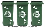 Voordeelset Container Sticker zonnebloem / vlinders met huisnummer 15 delig | Kliko | Rosami 2