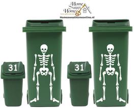 4 delige set Kliko container skelet + huisnummer | Rosami