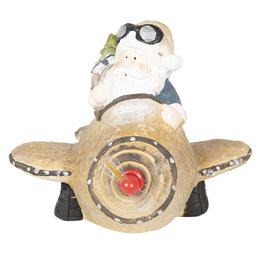 Kerstman in vliegtuig 35*35*28 cm Multi | 6CE0995 | Clayre & Eef