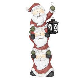 Kerstmannen met lantaarn 20*15*52 cm Multi | 6CE1001 | Clayre & Eef