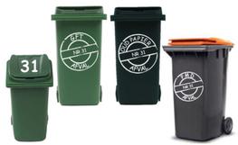 Voordeelset 6x sticker pmd papier & gft kliko container | Rosami