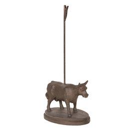 Kaarthouder koe 9*12*29 cm Bruin | 6Y3371 | Clayre & Eef