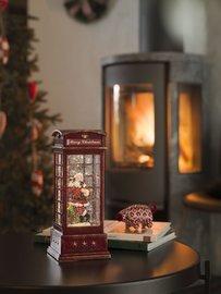 LED telefooncel met kerstman l 25 x 10,5 cm | Konstsmide