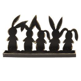 Decoratie konijnen 29*6*16 cm Bruin   64332   Clayre & Eef