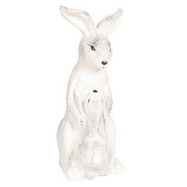 Decoratie konijn 23*16*41 cm Grijs   6TE0265   Clayre & Eef