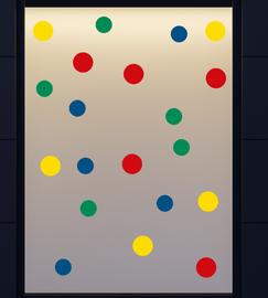 Confetti - Kleur zelf samenstellen 20 delig stickerset herbruikbaar | Carnaval