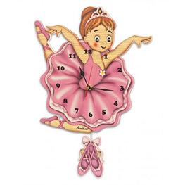 Houten muurklok ballerina   Bartolucci