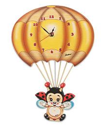 Muurklok lieveheersbeestje aan ballon | Bartolucci