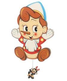 Muziekdoos Pinokkio trekkoord | Bartolucci | Hout