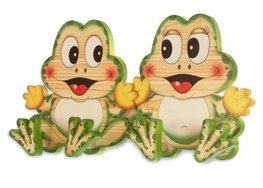 Houten kapstok kikkers | Bartolucci