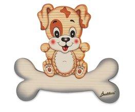 Magneetbord Hond op een bot 15,5 x 14 cm | Bartolucci