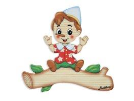 Magneetbord Pinokkio hout 16 x 15 cm | Bartolucci