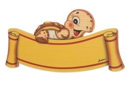Naambord schildpad hout 29 x 13 cm | Bartolucci
