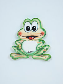 Decoratie bordje Kikker hout 14 x 14 cm | Bartolucci