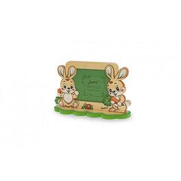 Fotolijst hout 2 konijnen 24 x 14,5 cm | Bartolucci