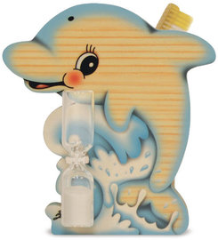 Tandenborstelhouder dolfijn zandloper | Bartolucci | Hout