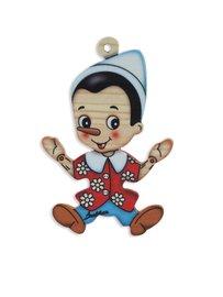 Kerstboomhanger Pinokkio | Bartolucci | Hout