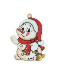Kerstboomhanger sneeuwman | Bartolucci | Hout