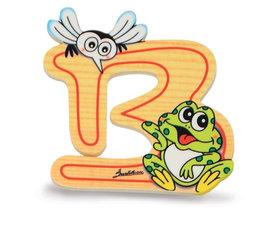 Alfabet letter hout groot B   Bartolucci