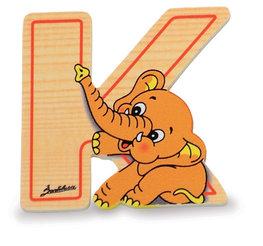 Alfabet letter hout groot K | Bartolucci