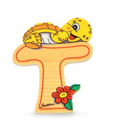 Alfabet letter hout groot T   Bartolucci