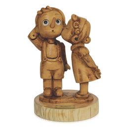 Beeld Pinokkio met meisje - First Kiss 15,5 x 10 cm | Bartolucci