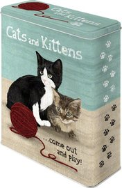 Cats and Kittens 3d come out and play blik XL | Nostalgic Art