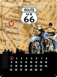Kalender metaal route 66 | Nostalgic Art