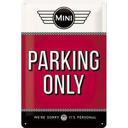 Metaalbord Mini - Parking only | Nostalgic Art