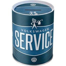VW Volkswagen Service metalen ronde spaarpot | Nostalgic Art