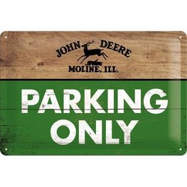 Wandbord metaal John Deere - Parking only | Nostalgic Art