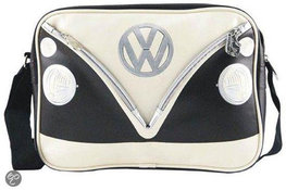 Schoudertas zwart/wit  VW Volkswagen T1 | Brisa