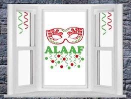 Raamsticker set Carnaval Alaaf, Confetti en masker | Rosami