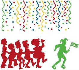 Raamsticker set 110 delig herbruikbaar carnaval | Rosami