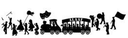 Uitbreidingsset raamsticker herbruikbaar Carnaval optocht / parade | Rosami