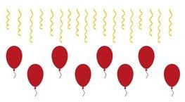 Stickerset herbruikbaar 26 delig serpentine & ballonnen   Rosami