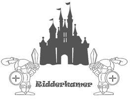 Sticker ridderkamer kasteel & 2 ridders | Muursticker | Rosami