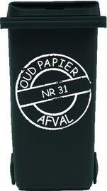 Sticker cirkel voor papier kliko container met huisnummer | Rosami