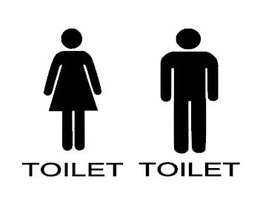 Sticker set heren & dames toilet silhouette man vrouw | Rosami