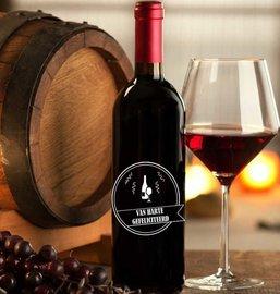 Etiket / Sticker wijn van harte gefeliciteerd | Rosami