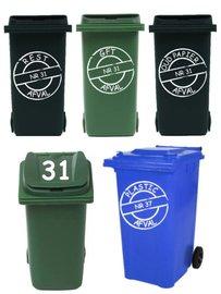 Voordeelset 8 x sticker kliko / container  | Rosami